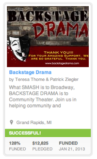 Backstage Drama Successfully funded through Kickstarter!